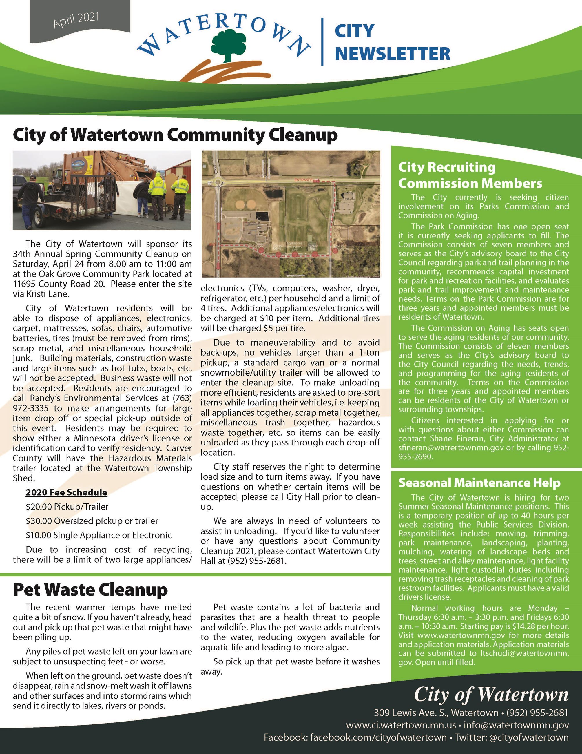 Picture of Spring 2021 community newsletter