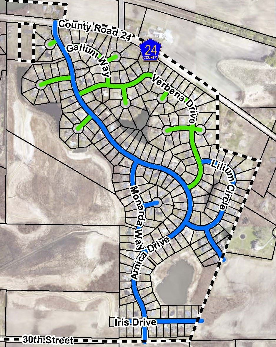 2021 Mill and Overlay Project Map